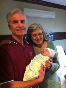 Owen, with his Johnson grandparents