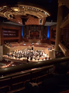 The imposing concert hall as the orchestra began to assemble